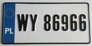tablice w formacie usa łódź