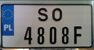 tablice w formacie usa